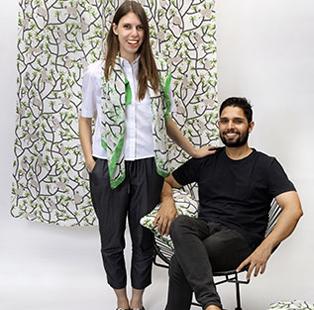 Sarah Fotheringham and Maninder Singh: EDIDA India Fabric winner 2016