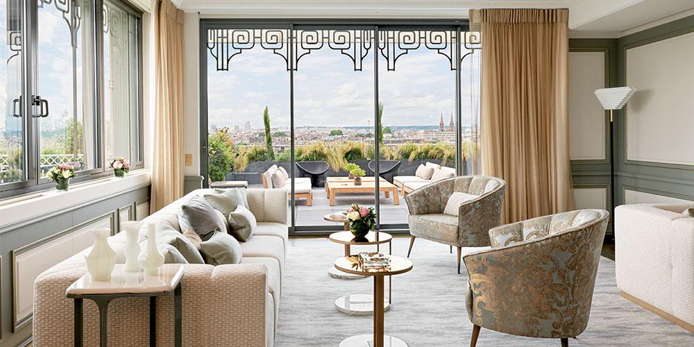 Lally Berger The Lyon Based Design Studio Reimagines The Belle Etoile Suite At Le Meurice In Paris Elle Decor