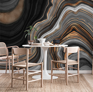 Spruce up your settings with decor in swivelled and streaked pops as the Whirl Swirl trend takes over