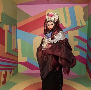 #InstaMood: Dramatic robes and accessories make British fashion icon Daniel Lismore a photographer's delight