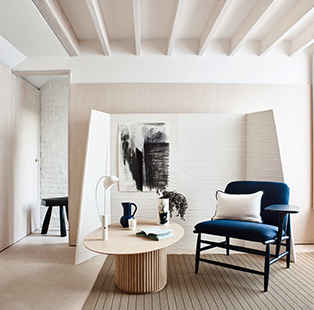 Weave a pure and honest narrative with natural surfaces, organic textures and inky accents
