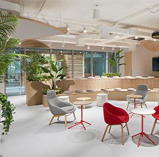 Pallavi Dean's interior design studio Roar celebrates a hybrid of crafts and cultures in this office design