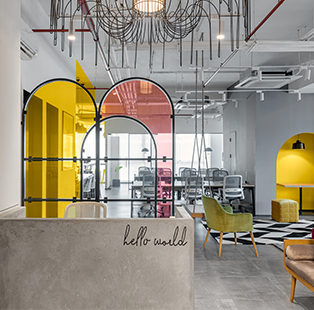 Draped in cheery yellow tones, this upbeat Mumbai office by Quirk Studio is sure to leave you with good vibes only