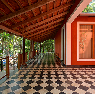 Tucked in nature's dense folds, Martand Khosla's former holiday home in Goa echoes its coastal landscape and tranquil setting