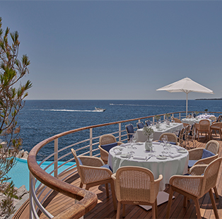 Patricia Anastassiadis styles three dining venues for Hotel du Cap-Eden-Roc in the French Riviera, each a tribute to its vivid past