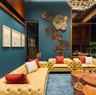 Ace Associates bring the tropics to Ahmedabad within the stylish Akshardham Villa