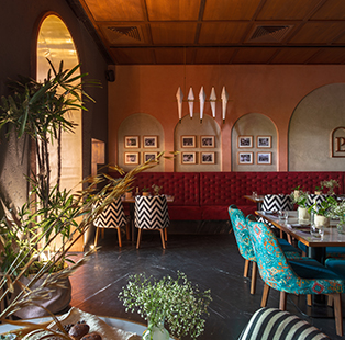 Vivek Kadecha revamps Ahmedabad's iconic Lalit Palace restaurant to be architecturally timeless by fusing modern and vintage styles