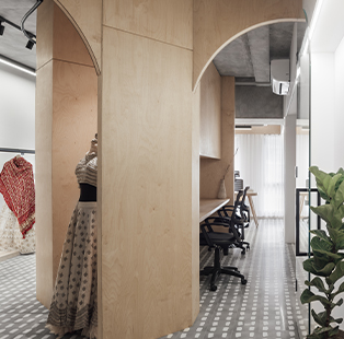 Shruti Malani of Intrinsic Designs fashions an unconventional workspace for a couple with diverse professions