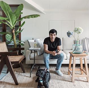 Ravi Vazirani welcomes us to his Mumbai-based namesake studio, where we met his Yoda