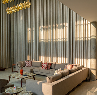 This sun soaked, airy residence in Ahmedabad by Hiren Patel of Studio HPA is a treat for all nature lovers
