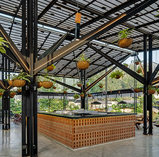 George Attokaran gives us a tour of the contemporary microbrewery URU that looks out to the lush environs of a Bengaluru park