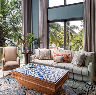 Breaking away from its maximalist identity, Beyond Designs fashions a relatively pared down Goa abode inspired by Mediterranean hues and style
