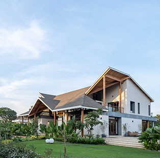 Tune in to a tropical symphony at this weekend abode near Alibaug, crafted by The Architecture Company