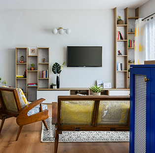 This Bengaluru apartment by Kinaaya Studio is a confluence of all things old, new, borrowed and blue