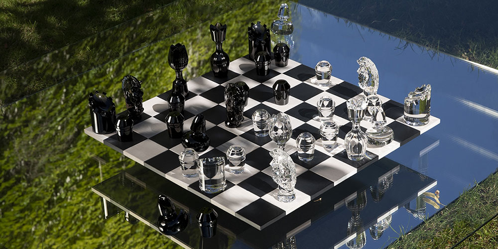Chess set by St Louis