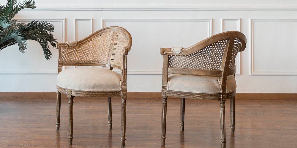 Cane Accent Chairs