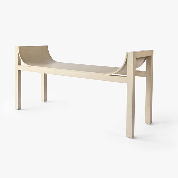 Solid Ash Wood Bench