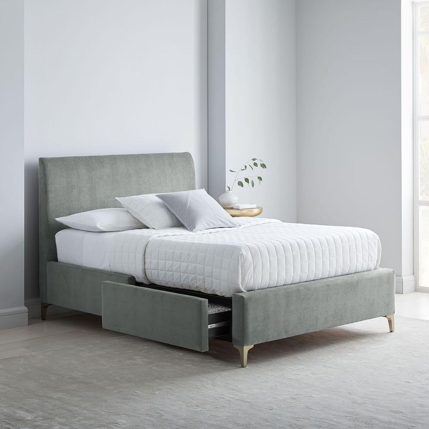 Andes Deco Upholstered Storage Bed