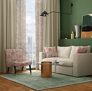 J&Y Fabrics' Arc Collection is a medley of colours that synchronise nature with your spaces