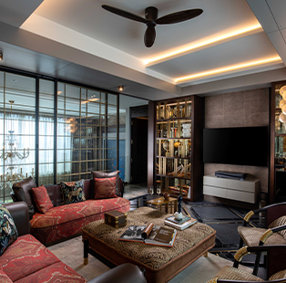 Not less than a extravagant movie set—this duplex penthouse in Kolkata is designed by Ajay Arya of A Square Designs